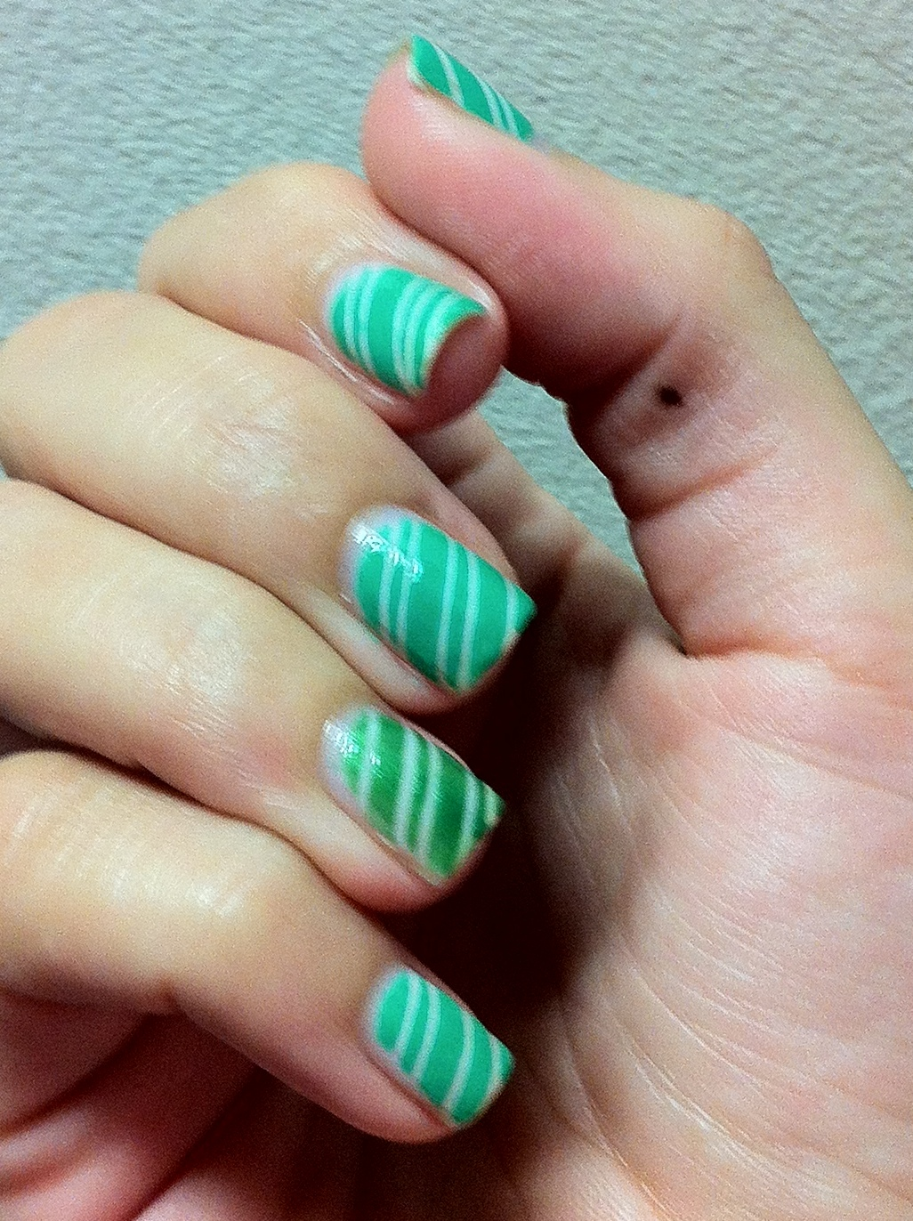 Striped Manicure | Polish My Pretty Nails